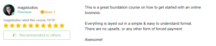 This image is one of the many testimonials of success at Wealthy Affiliate