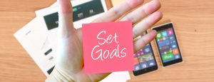 Set goals for your online business
