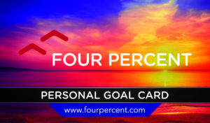 Four Percent Goal card