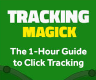 Image shows an advertisemant banner for Tracking Magick training for Click Magick
