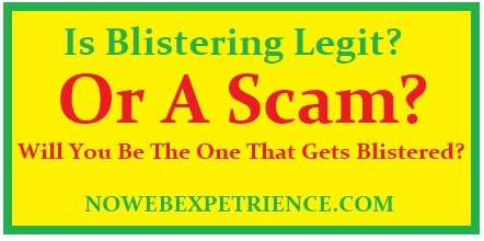 This graphic asks if Blistering is Legit, or a scam