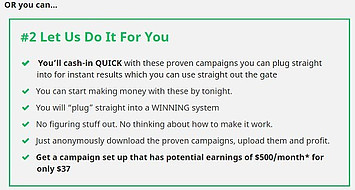 This graphic explains how I can make money iof I pay Blistering for the Upsells