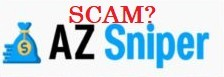 This graphic is text that reads Is AZ Sniper a scam